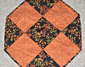 Autumn Fall Leaf Octagon Table Runner