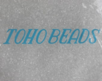 15 GRAMS -TOHO CRYSTAL 15/0 Seed Beads