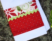 Christmas Tea Towel or Dish Towel in Kate Spain's 12 days of Christmas