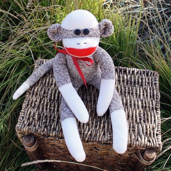 Original Red Heel Sock Monkey  (DEXTER) SIZE SMALL