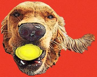 digital pop art of your pet