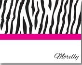Sassy Zebra - Set of 10 Note Cards