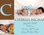Sweet Baby Boy Birth Announcement - The Charles Michael