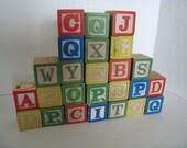 25 Vintage Children's Alphabet Blocks