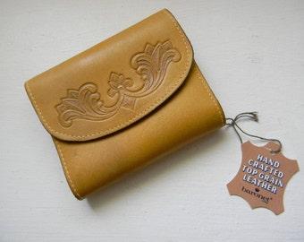 vintage. 70s Deadstock ERCU  Brown Wallet