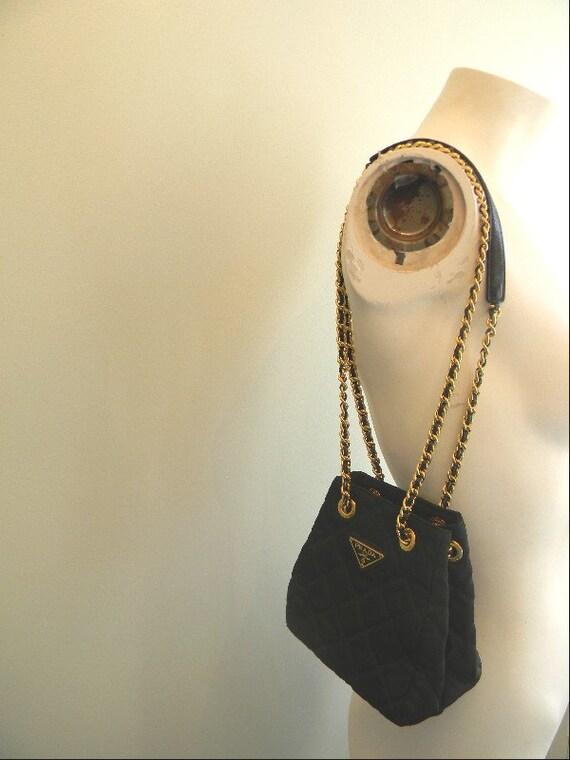 vintage. Prada Black Quilted Mini Shoulder Bag by styleforlife