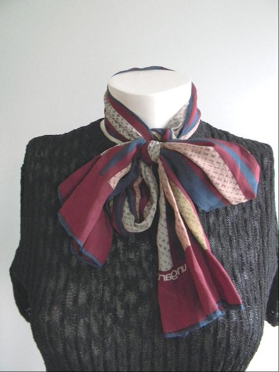 vintage. 70s Emanuel Ungaro Silk Striped Scarf