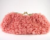 sunglass case -pink  fur