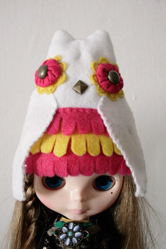 Mr. owl hat  for  Blythe