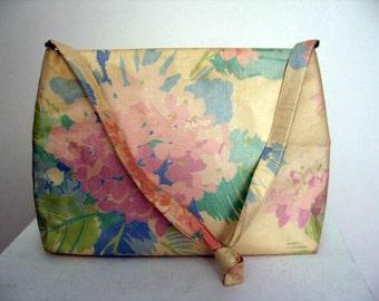 Vintage 1960's Floral Shoulder Bag by Margaret Smith