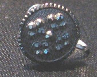 Vintage 1950s Marcasite Screw Back Earrings