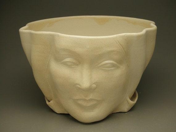 Face Planter Sculpture Flower Pot Head Garden Art With Open