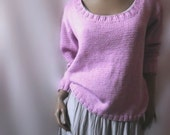 Womens Hand Knit Loose Fit Merino Wool Sweater Many colors available