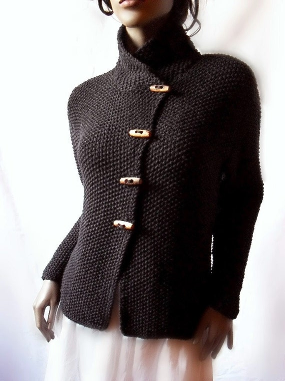 Women's Knit Jacket Merino Wool Cardigan Hand Knit