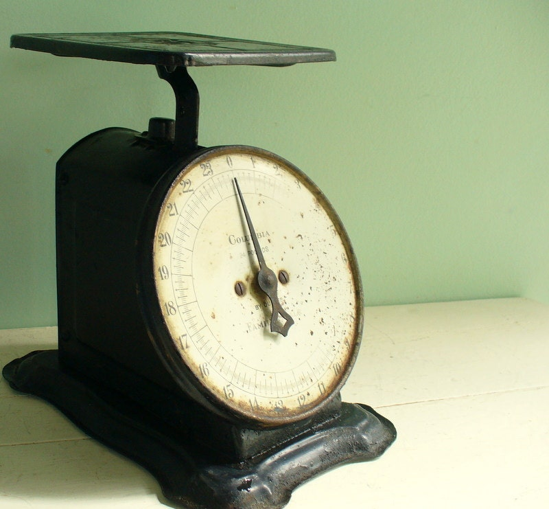 Antique Kitchen Scale: Vintage Antique Kitchen Scales By Columbia Black Metal Rustic