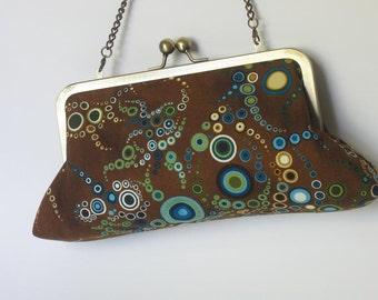 Amelia Brown  Clutch - fabric by Amelia Caruso