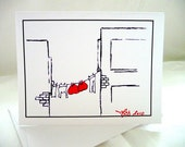Heart to Heart Greeting Card - Romantic Clothes Line - Love Hanging Out