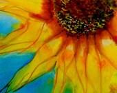 Sunflower Art Print Large Framed - Sunflower Morning