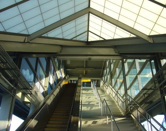 Terminal Daybreak Newark Airport Architecture Geometry Shadows signed phipps y moran Flipping Gypsy Photography free mat Ready To Frame