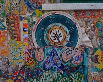 Mosaic Mantra No. 2 TEL AVIV Flipping Gypsy Photography Keys Broken Plates Tiles Etc signed phipps y moran Free Mat
