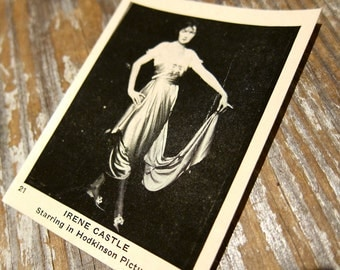 1920s movie card EGYPTIAN PRETTIEST CIGARETTES Irene Castle Photo Souvenir Advertising
