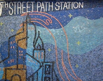 Mosaics Photo signed phipps y moran Right Path No. 1 New York City Path Station Flipping Gypsy Photography free mat Ready To Frame