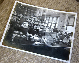 Wartime Women Workers Vintage Black & White Photograph World War II McQuin Steel Company Indiana 1943