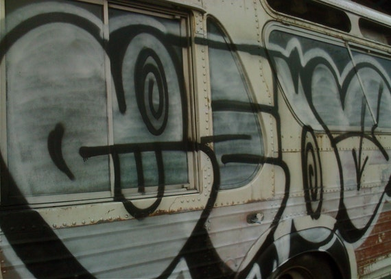 Graffiti Bus No. 3 Urban Decay Flipping Gypsy Photography signed phipps y moran BALTIMORE Free Mat Ready To Frame