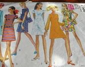 Vintage Pattern - Minidress and Bag - Simplicity 7430
