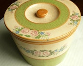 Shabby Chic Stoneware Crock, Made in Japan, Vintage