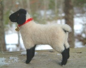 Shelly an Original Needle Felted Suffolk Sheep by Cindy Walker SALE