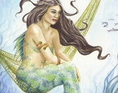 Under the Sea - fairy fantasy gothic art print by Deanna Bach