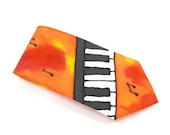 KEYBOARD Hand Painted Silk Jazz Style Tie by Julie Riisnaes