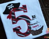 Shiver Me Timbers Shirt Personalized Initial or Number - Choose your fabric