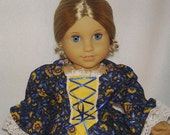 Reserved - Colonial Williamsburg Gown for Felicity, Elizabeth and Other 18 Inch Dolls