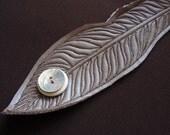 Grey Feather Bracelet