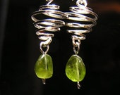 Spiral dangle earrings RESERVED FOR AMY