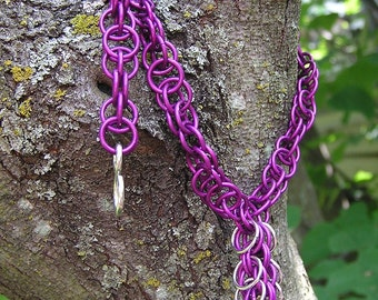 bright purple chain necklace