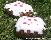For Chrystal the Pioneer - Minecraft Inspired Kitty Catnip Cake Plushie