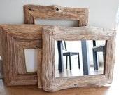 Mirror In Reclaimed Farm Wood Frame 10x14