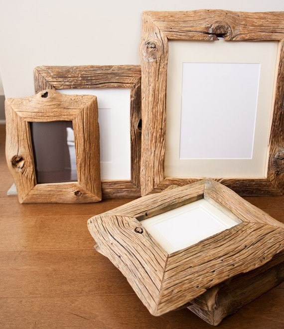 Reclaimed Farm Wood Art or Photo Frame 5x7