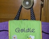 Personalized Embroidered Stephen Joseph Daisy Toddlers Pre School Backpack Tote Easy Ordering