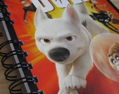 Bolt Upcycled Notebook Recycled Movie DVD Cover Art Handmade Journal Disney Animation NORGASWAP10