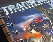 Transformers Revenge of the Fallen Upcycled Notebook recycled movie Dvd cover art Handmade Journal HOT HOT HOT