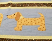 Handquilted Applique Dachshund or Labrador Quilt