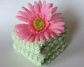 Hand Knit Washcloths or Facecloths - 100% Cotton