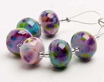 Floribunda Mix - Handmade Lampwork Glass Beads by Sarah Downton