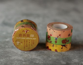 Classiky YONAGADO Design MR FASHIONABLE washi masking paper tape 3pc set