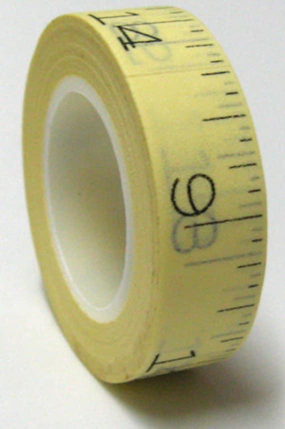 Ruler fancy japanese washi masking tape