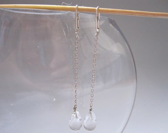 simple clear quartz drop's